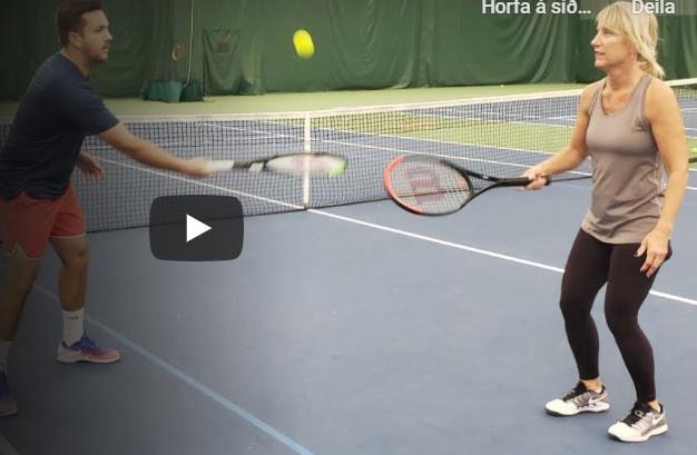 Tennisæfingar heima
